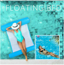 Summer Swimming Pool Floating Water Hammock Lounge Chair Inflatable Float Rafts