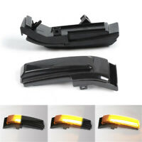 For Ford F150 15-21 Smoked Sequential LED Dynamic Side Mirror Turn Signal Lights
