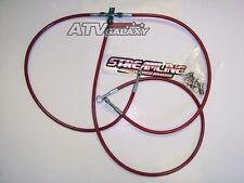 """STREAMLINE +3"""" FRONT BRAKE LINES LINE KIT ATV RED YAMAHA YFS200 BLASTER 2003+"""