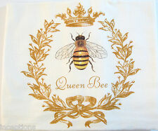 Alice's Cottage Cotton Flour Sack Kitchen Tea Towel Queen Bee - NEW