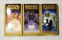 Star Wars Trilogy Special Edition 3 VHS Tape Gold Box Set
