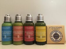 ~L'Occitane TRAVEL Set~Bath Gel/Shampoo/Conditioner/Body Lotion/Shea Butter Soap