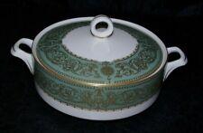 Vintage Vegetable Serving Bowl & Lid Tureen Royal Worcester Balmoral Green