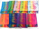 wholesale 12pcs colorful flower butterfly peacock pashmina scarf