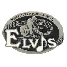 Cowboy The King of Rock & Roll Guitar Music Singer Elvis Presley Belt Buckle New