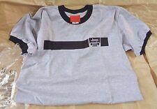 M, GREY T- Shirt JEEP Original ringer uomo maglietta