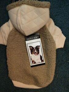 Zack & Zoey Teddy Bear Fleece Hoodie / Coat / Jacket  for Dogs - tan color