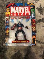 Marvel Heroes Miniature Poseable Action Figures CAPTAIN AMERICA RARE Avengers