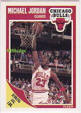 1989-90 FLEER BASKETBALL BASE CARD #21: MICHAEL JORDAN - 2 TIME OLYMPIC CHAMPION