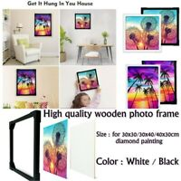 Photo Frame for Diamond Painting Embroidery Cross Stitch White Black US Stock
