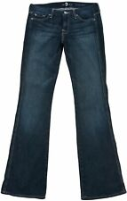 7 For all mankind Women's Denim jeans Blue-Grey Faded Low rise Bootcut Size 29