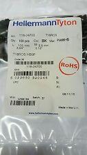 Hellermann Tyton FASCETTA OS Nero 100x2.5mm pk100 t18ros.hb3p