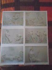 lotto stock stampe a due lati di raffigurazioni sculture