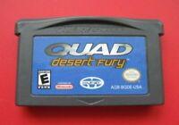 Quad Desert Fury Nintendo Game Boy Advance plays in DS Lite SP System