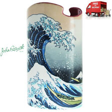 More details for dartington beswick hokusai the great wave ceramic vase with gift box height 23cm