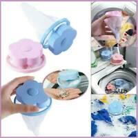 2Pcs Washing Machine Hair Catcher Filter Net Bag Floating Lint Mesh Trap Pouch