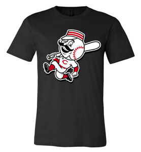 Cincinnati Reds Throwback logo T-shirt 6 Sizes S-5XL!!