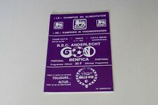 More details for uefa cup final (1st leg) (1983) anderlecht v benfica programme (excellent)