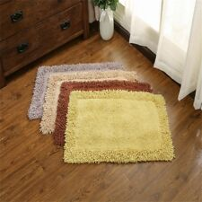 100% Cotton Bath Mat Rug Set Bathroom Shower Reversible Mats Floor Waffle Weave