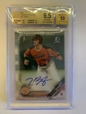 BGS 9.5 Joey Bart 2019 Bowman Chrome Prospect Rookie Auto San Francisco Giants