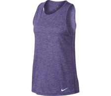 NIKE Women's Dry Tomboy Cross-Dye AthleticTank Top Dark Iris 902084-540 Size XL