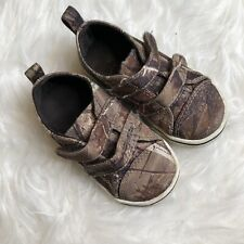 e33ef4d9e303d Real Tree Toddler Boy Sz 5 Camo Shoes Hook and Loop Straps Green Brown