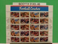 Scott # 3143-46-Legendary Football Coaches - Sheet of (20) 32 Cent Stamps