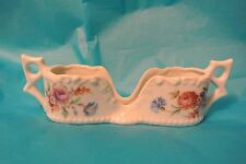 Vintage Porcelain Floral Spoon Holder