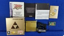 GBA SP CONSOLE Gold Limited Zelda Edition PAK *y Minish Cap RARE GameBoy Advance