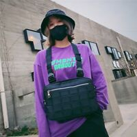 Men Women Fashion Chest Rig Bag Vest Hip Hop Streetwear Functional Bag US
