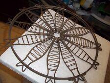 "Vintag 16""D Campfire Bbq Rare Fish Grill Basket Rustic French Kitchen Decor 27""L"