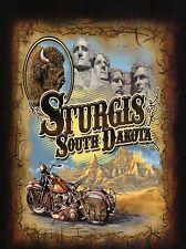 Sturgis South Dakota, Motorcycle Rally, Mount Rushmore, Buffalo, SD --- Postcard