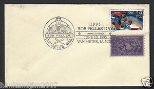 Bob Feller Day 1995 USPS Envelope with Olympic & 1939 Baseball centenial Stamps