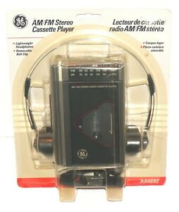 Vintage GE 3-5469S AM/FM Stereo Cassette Player with Headphones NEW PLEASE READ