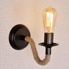 Vintage Industrial Hemp Rope Pipe Wall Sconce Wall Lamp Bar Lights H