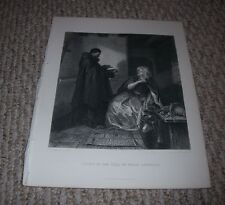 1888 Engraving Romeo and JULIET IN THE CELL OF FRIAR LAWRENCE E M WARD H Bourne