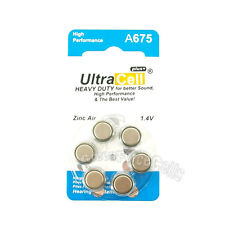 6 pcs Zinc Air Hearing Aid Battery PR44 7003ZD S675A L675A A675 675A 675SA 675