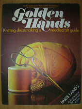 GOLDEN HANDS CRAFT MAGAZINE No 1 & 2 KNITTING A PULLOVER - POP-OVER PINNY