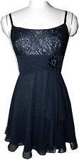 $398 Bcbg Max Azria Black Silk Chiffon Dress 6 / M Gown Empire Waist