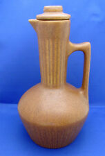 Tall Decanter Pitcher Monmouth Pottery USA Mohave Lid Excellent Speckled Brown