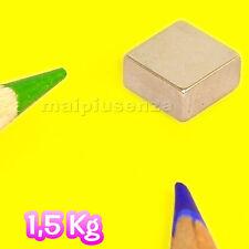 25 CALAMITE magneti 8x8x4 mm blocchi calamita supermagnete NEODIMIOblocco 1,5 Kg