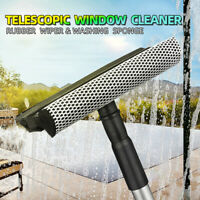 Telescopic Window Glass Cleaner Wiper Squeegee Sponge Washer Home Cleaning Brush