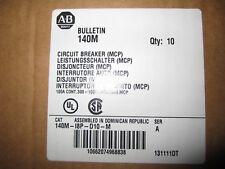NEW ALLEN-BRADLEY MOTOR CIRCUIT PROTECTOR 140M-I8P-D10-M BREAKER 100A QUANTITY