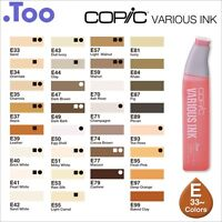 """Copic Various Ink """"E(Earth)33-99 Color Series""""Refill for Too Sketch&Ciao"""