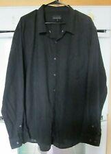 Men's Black Attention Long Sleeve Button Down Shirt 4XL 4X XXXXL