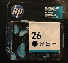 HP #26 51626A Genuine Black Ink Cartridge-New Sealed Retail Box