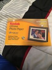 Kodak Ultima Picture Paper High Gloss 4 x 6 Sheets for Inkjet 20 Sheets