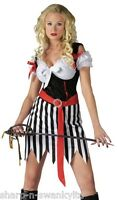 Ladies Sexy Playful Pirate Halloween Party Fancy Dress Costume Outfit
