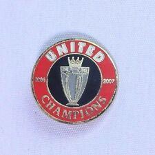 Manchester United Champions 2006 - 2007 Football Brooch Pin Badge