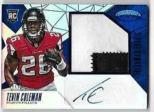 2015 Panini Certified TEVIN COLEMAN RC Rookie Autograph Patch Blue Mirror /25